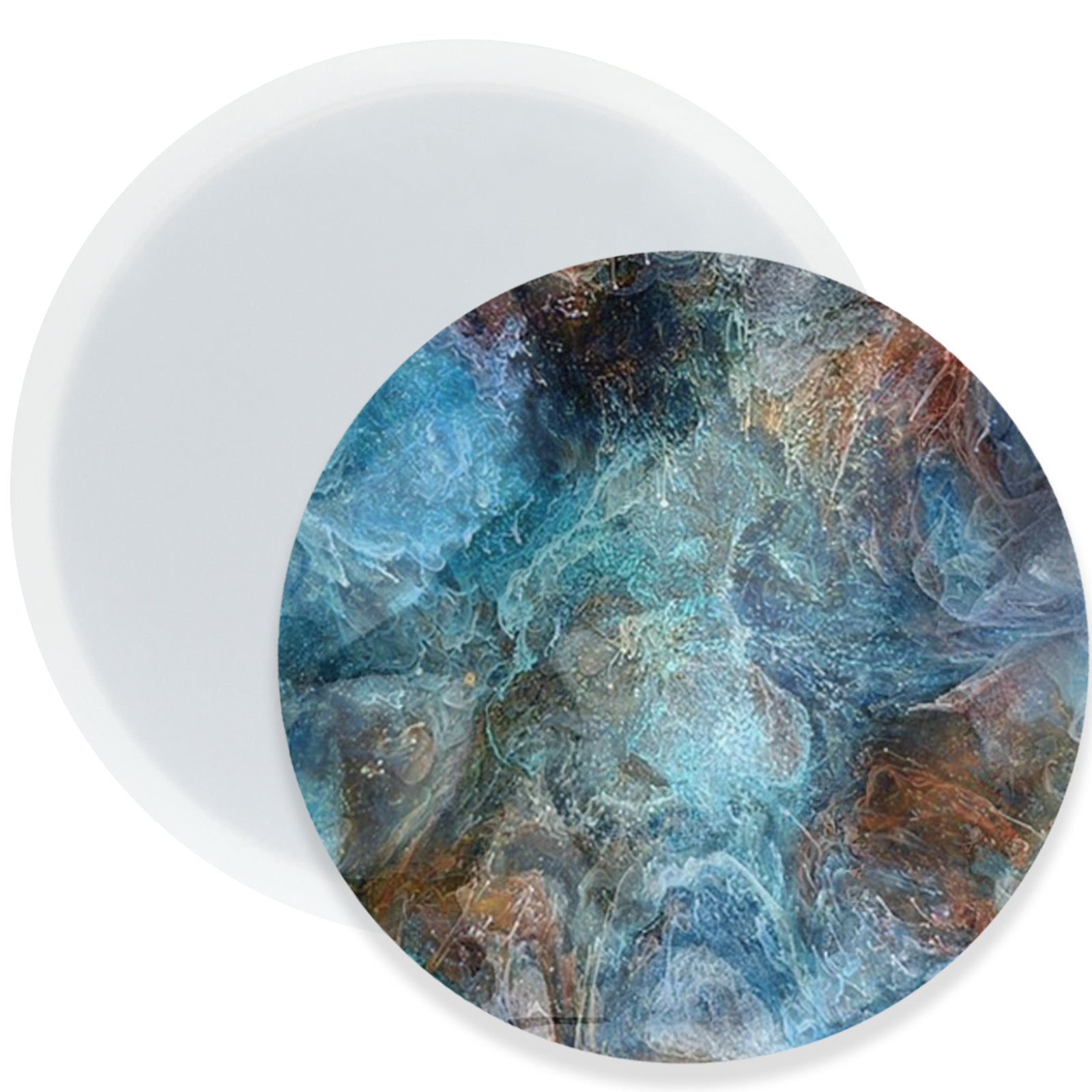 Circle Coaster Resin Silicone Mold 3.5inch