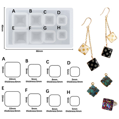 Square Cabochon Resin Silicone Mold