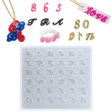Mini Alphabet and Numbers Initial Resin Silicone Mold