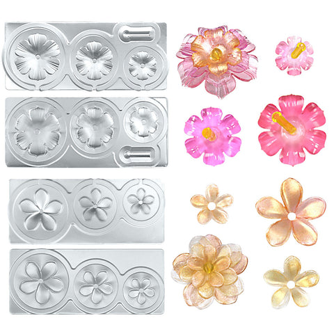 Tropical Flowers Resin Silicone Molds All-purpose 2-Count