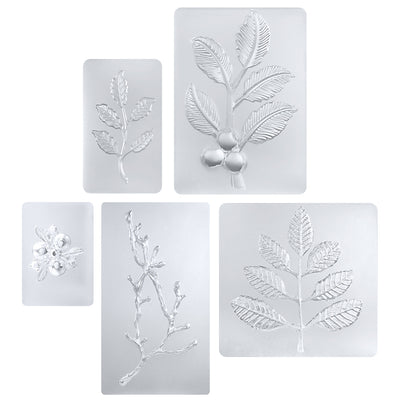 Cherry Tree Branch with Leaf and Fruit Resin Silicone Molds 5-Count