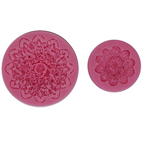 Lace Blossom Fondant Silicone Molds Set