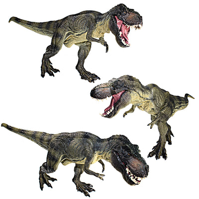 Tyrannosaurus Rex Walking Figure with Movable Jaw Olive Green Height 5-inch