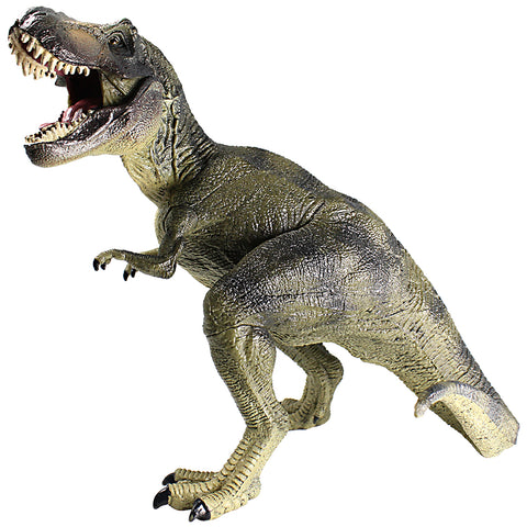Tyrannosaurus Figure with Movable Jaw Olive Green Height 6-inch