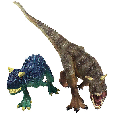 Carnotaurus Figures Brown Carnotaurus with Movable Jaws 2-Count