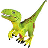 Velociraptor Figure with Movable Jaw Green Height 4-inch
