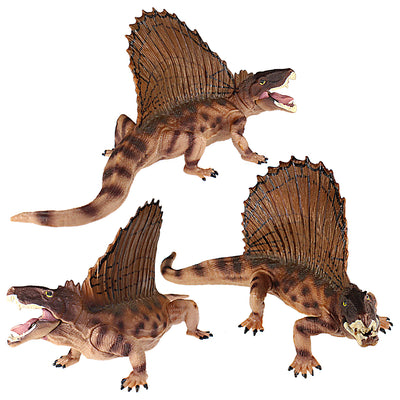Dimetrodon Figure with Movable Jaw Beige Height 3-inch