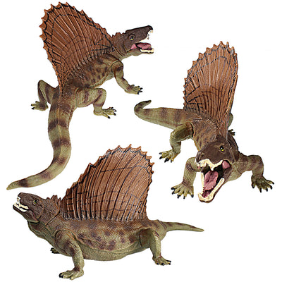Dimetrodon Figure with Movable Jaw Green Height 3-inch