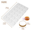 Round Disc Chocolate Baking Silicone Mold 1.4-inch Small Resin Disk