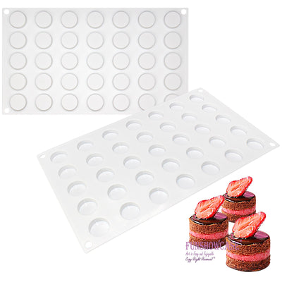 Round Disc Chocolate Silicone Mold Tray 1x1x0.4inch Mini Resin Disk