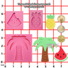Aloha Beach Fondant Silicone Molds Coconut Tree Pineapple Watermelon 3 Count