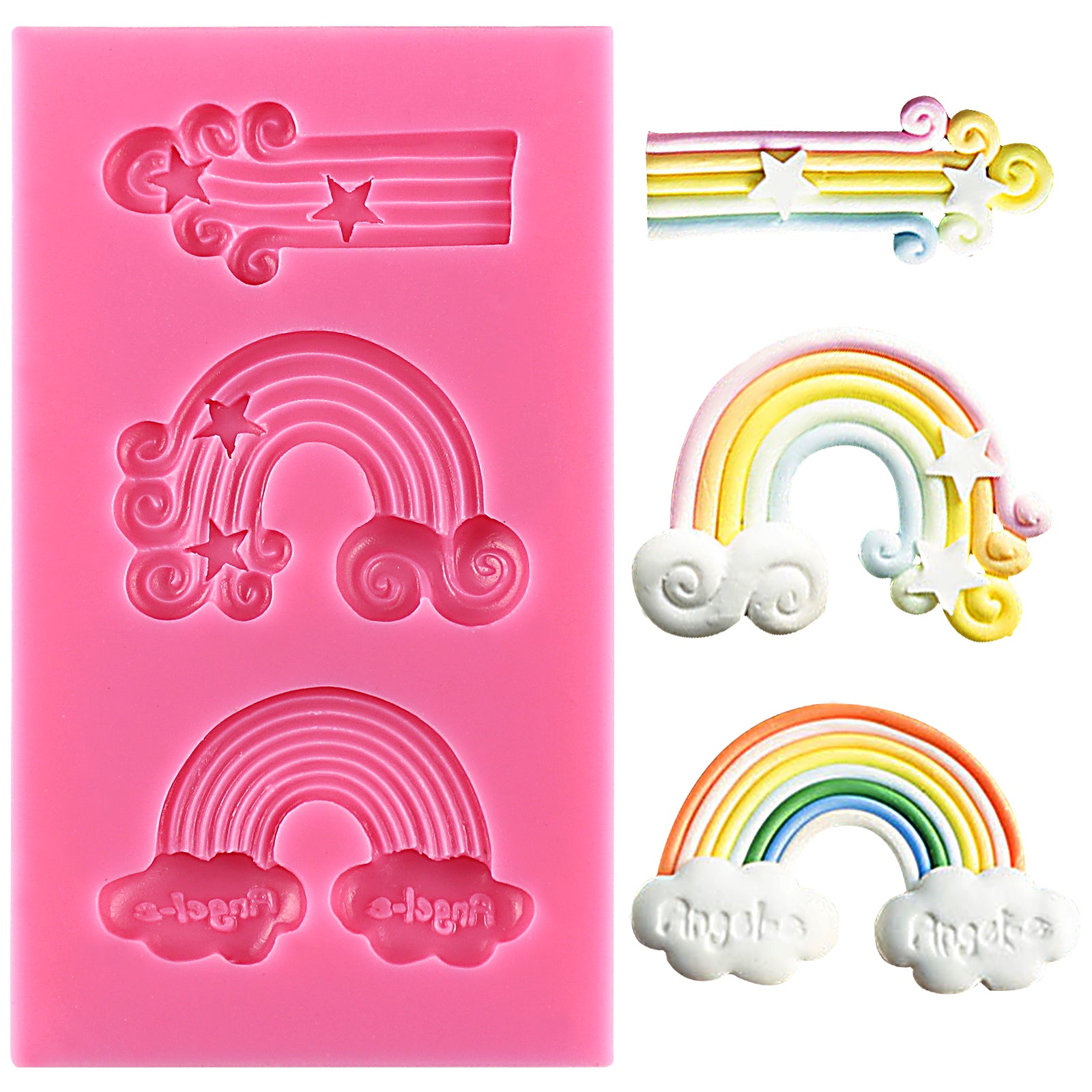Rainbow Fondant Silicone Mold for Unicorn Parties