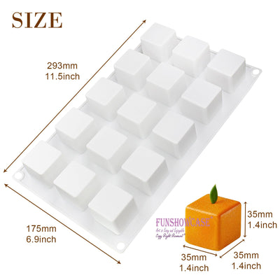 Magic Cube Cake Baking Silicone Mold Tray with Rank