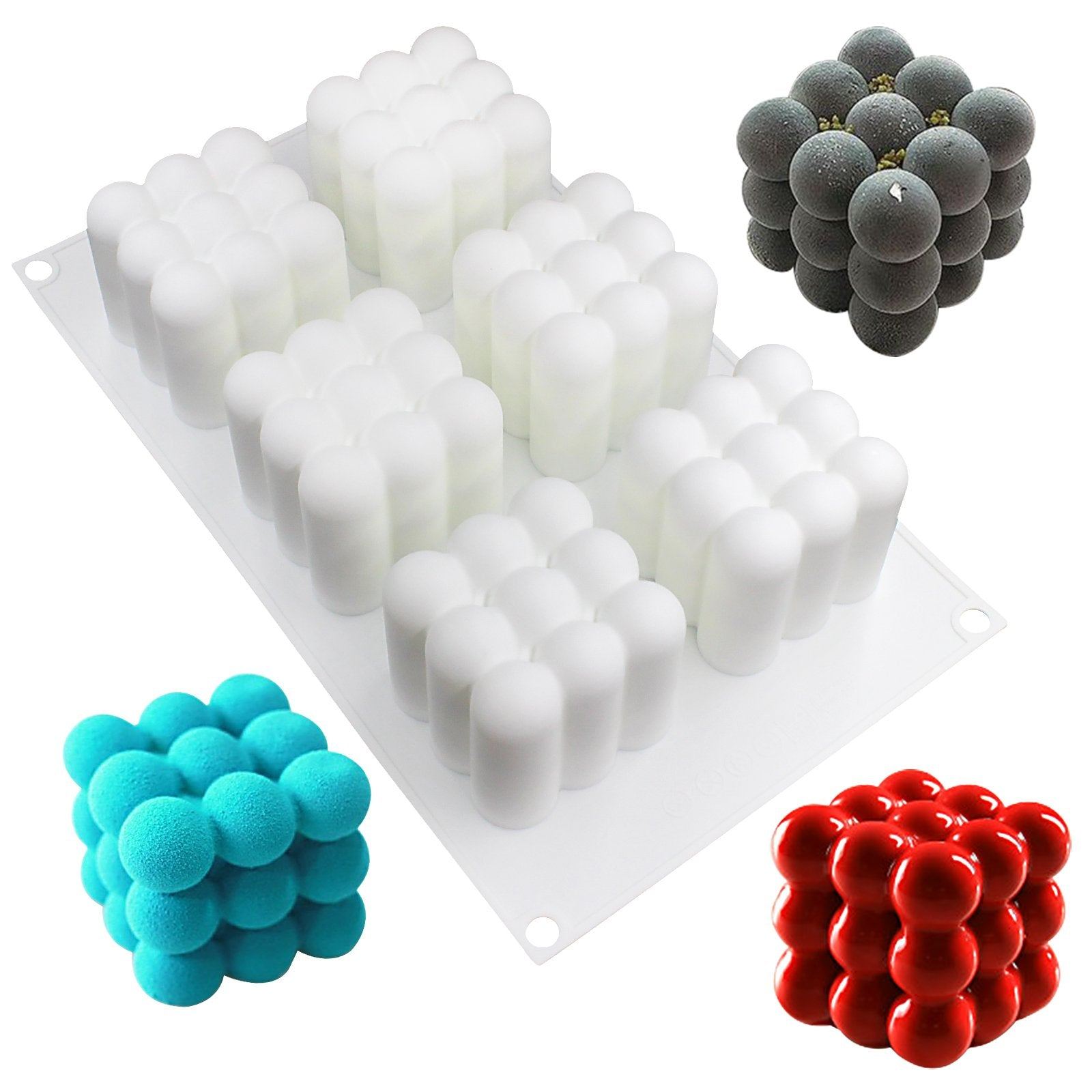 Magic Cubes Glaze Cake Mousse Silicone Mold Tray