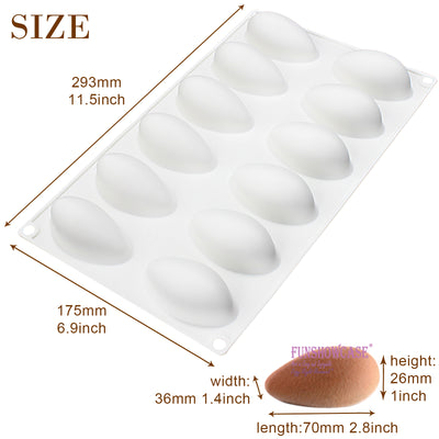 Quenelle Dessert Baking Silicone Mold Tray