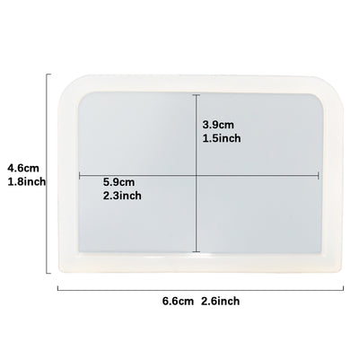Rectangle Coaster Resin Silicone Mold 2.6x1.8inch