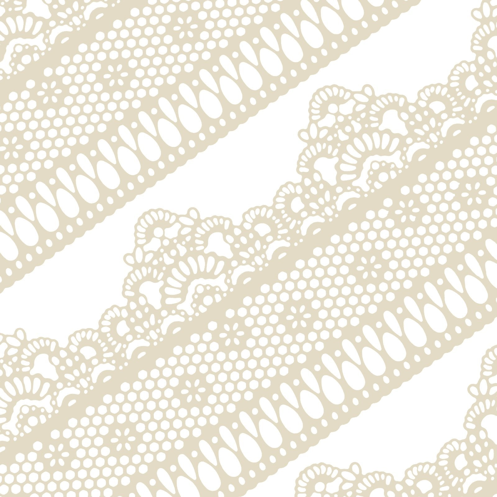 Edible Cake Lace Lattice and Small Daisy Ivory White