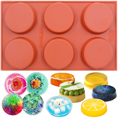 Round Disc Baking Silicone Mold 6-Cavity