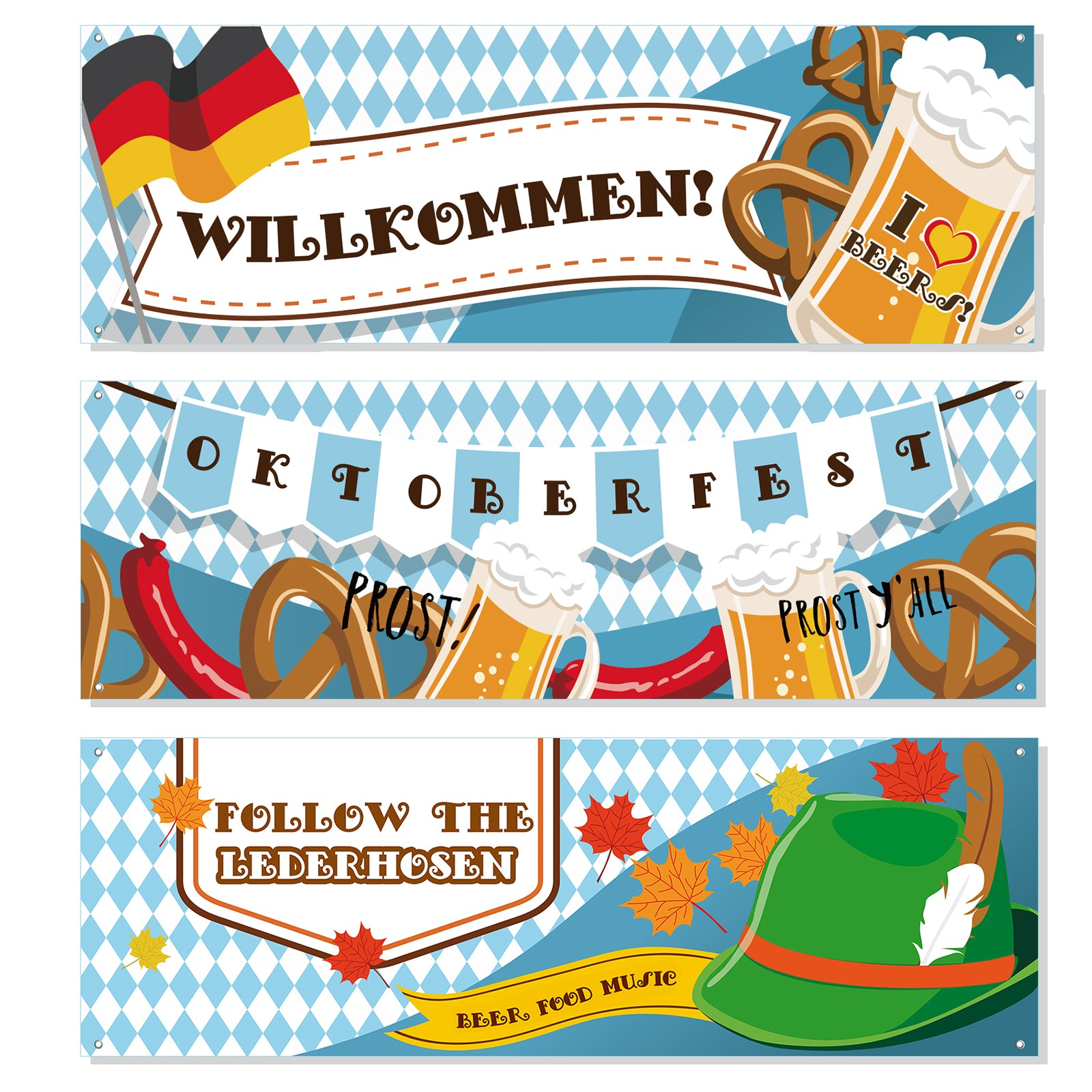 Oktoberfest Sign Party Banner 3-Count