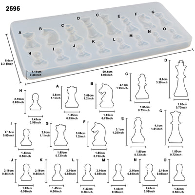Resin Casting Molds Jewelry Making 218-kit, Chess|3 Eyed Kitty|Hair Pin Silicone Tray