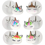 Unicorn Face Fondant Silicone Molds 6-Count 2.1inch High