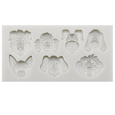 Puppy Dog Face Fondant Silicone Mold