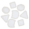 Stud Earring Resin Silicone Molds Cat|Triangle|Square|Cabochon 8-count