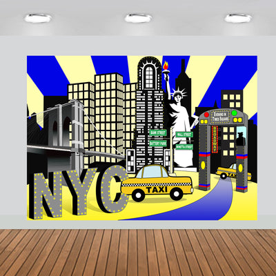 New York City Times Square Party Backdrop 7x5 feet