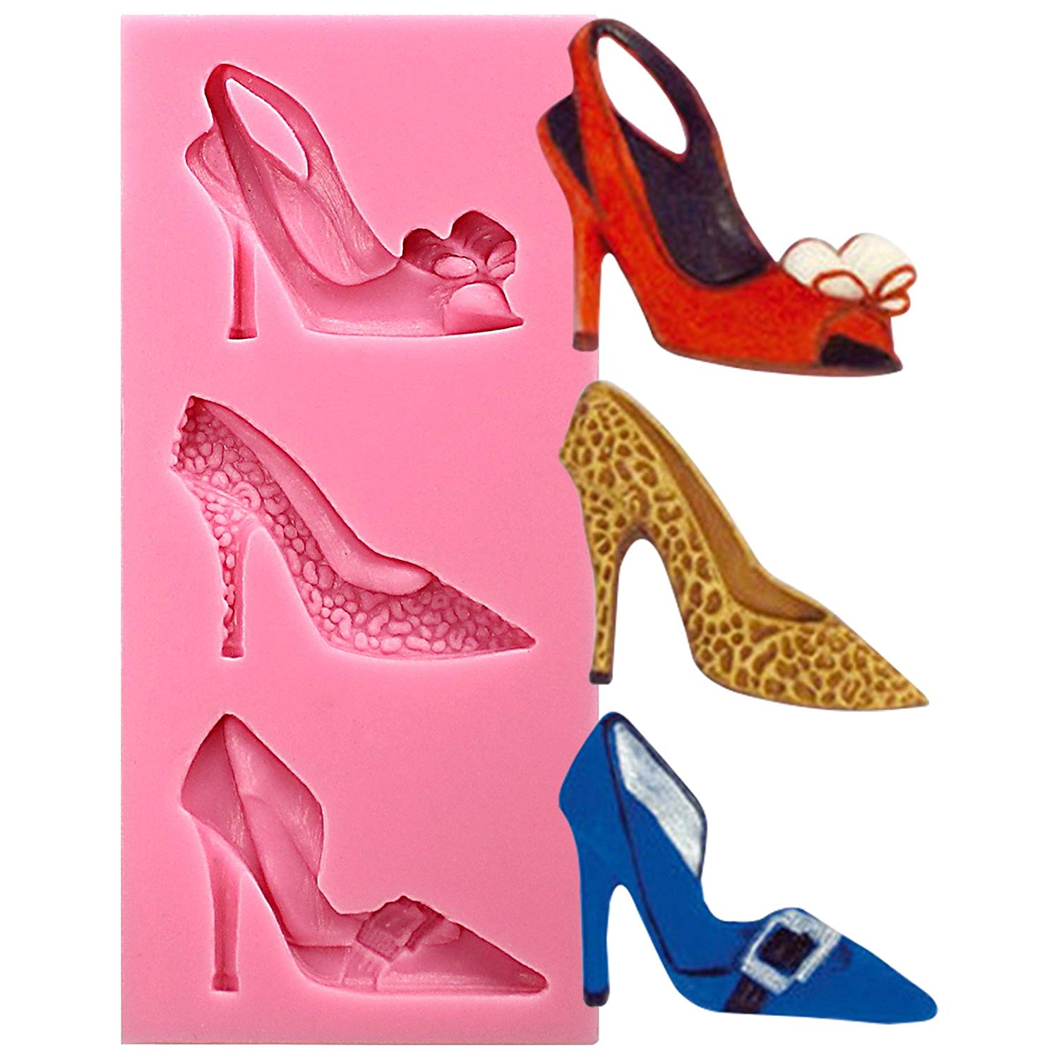 High Heel Shoes Fondant Silicone Mold