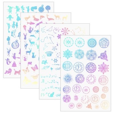 Holographic Laser Inlay Sheets 4-count