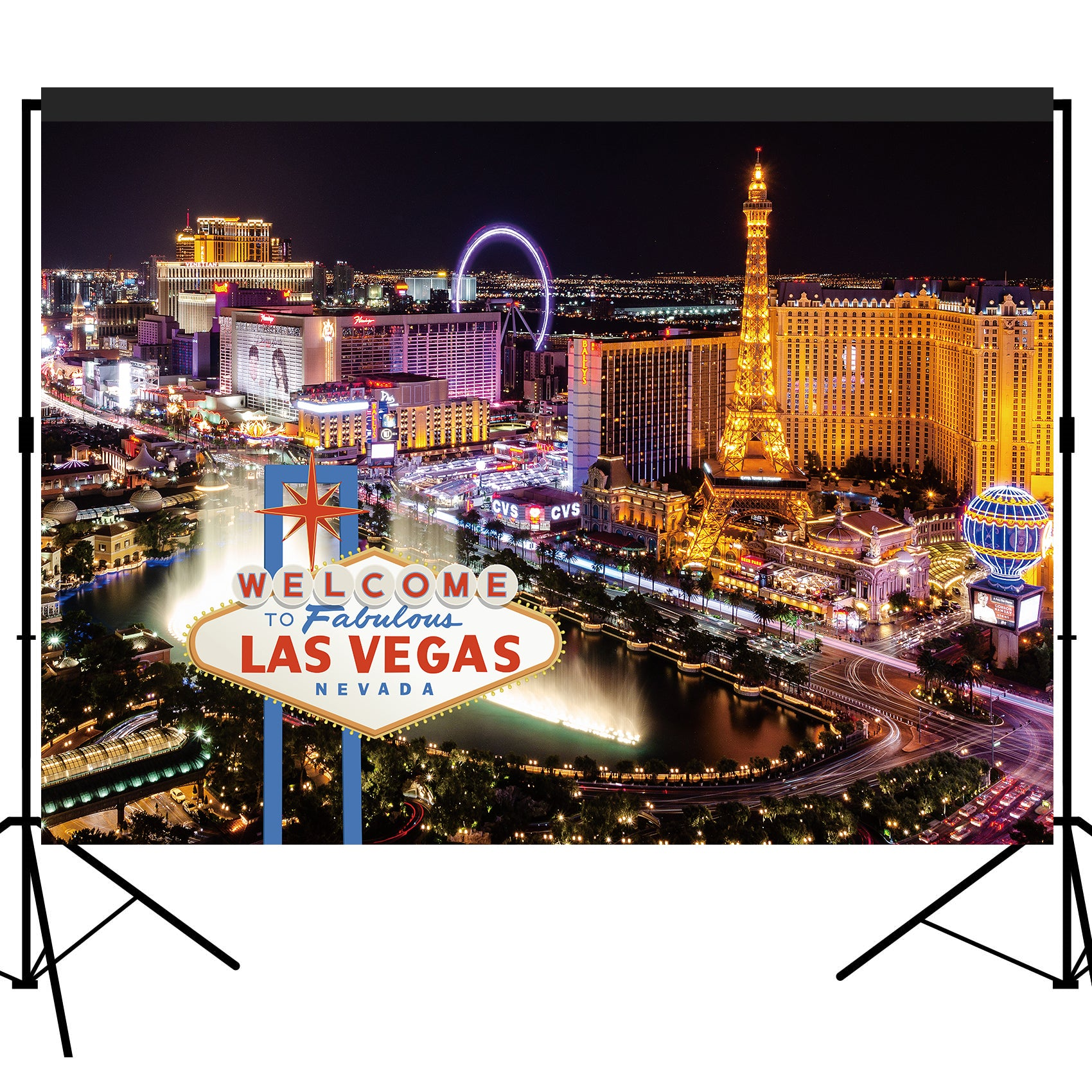 Welcome to Las Vegas Casino Night Backdrop 7x5 feet