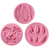 Leaf Silicone Molds Assorted Sizes and Shapes 3-Count
