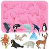 Arctic Ocean Polar Animals Silicone Mold 11-cavity Height 1.1-3.34inch