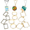 Open Bezel Charms & Accessories Set 35-count Round|Rectangle|Square