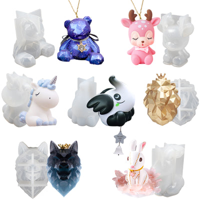 3D Animal Epoxy Resin Silicone Molds Set 7-count