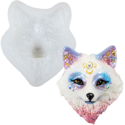 Fox Head Epoxy Resin Silicone Mold Large 3.6x3.15inch