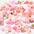 Mixed Resin Cabochons Pink Serial 130-count