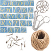 Hanging Sign Accessories Set of 48-kit Sticker|String|Chain|Hook|Binder Ring