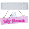 Hanging Sign Epoxy Resin Silicone Mold with 4 Holes, Rectangle Bar