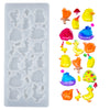 Cabochon Resin Silicone Mold 23-cavity Stones|Animals