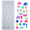 Rocks Cabochon Resin Silicone Mold 23-cavity