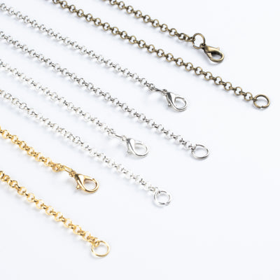 Chain Necklaces with Lobster Clasps 4-color 33.46inch