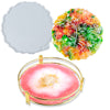 Agate Tray Silicone Resin Mold with Metal Frame, Round 10.2inch