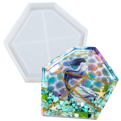 Irregular Geometric Dish Epoxy Resin Silicone Mold 5.9x4.9x0.47inch