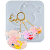 Duck Mama and Baby Keychain Resin Silicone Mold