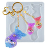 Deer Mama and Baby Keychain Resin Silicone Mold