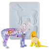 Dachshund Mama and Baby Keychain Resin Silicone Mold