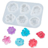 Mini Flower Resin Silicone Mold 6-cavity Rose|Larkspur