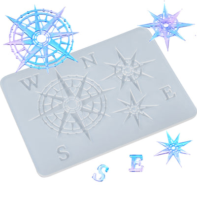 Compass Resin Silicone Mold