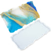 Geode Agate Tray Epoxy Resin Silicone Mold, Large Rectangle 12x6.7inch